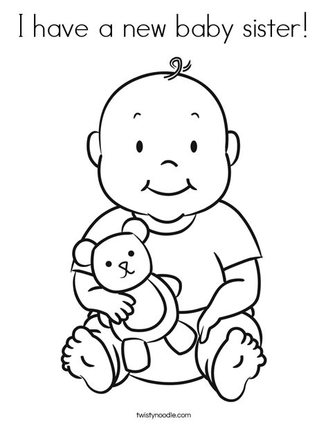 newborn baby coloring page new baby brother coloring page az coloring pages