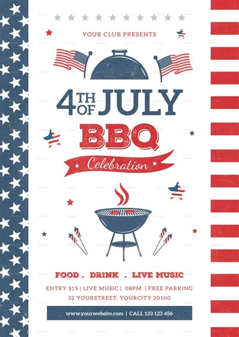 4th Of July Bbq Flyer Template Free 4th of july bbq flyer template best 4th of july