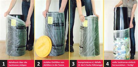 sacktonne saecke staender muell muellentsorgung gelber sack