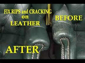 resurfacing leather fix rips and cracking on a leather chair