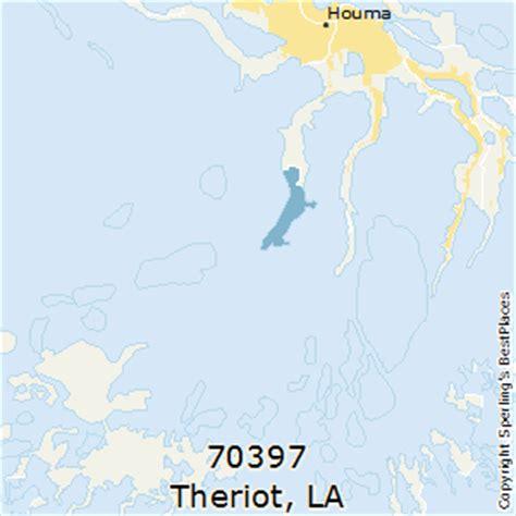 zip code map houma la best places to live in theriot zip 70397 louisiana