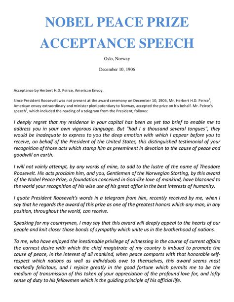 Acceptance Speech Exle Template Sarahepps Com Award Presentation Speech Sle