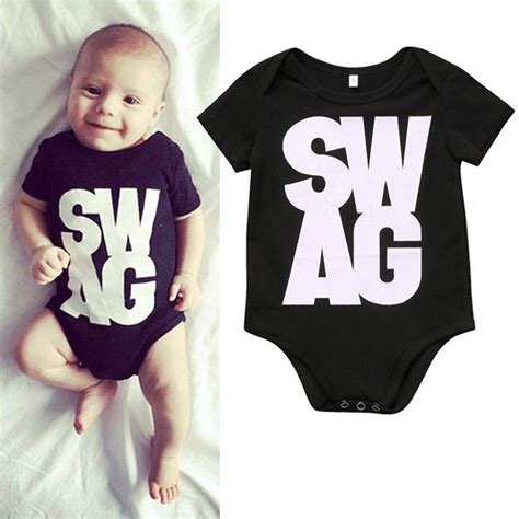 T Shirt Boy Swagg infant baby toddler t shirts kid minecraft tops swag design sleeve clothing boys