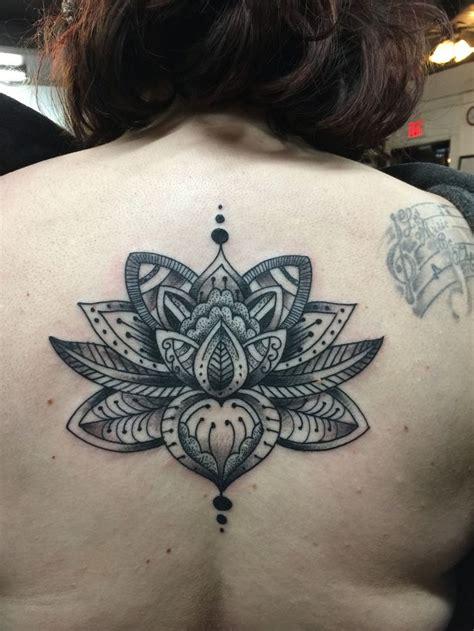dark lotus tattoo kansas city black work dot work lotus tattoo black and grey tattoos