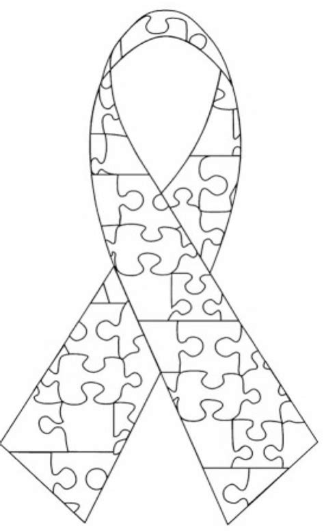 coloring page of autism ribbon ambassador hub awareness supplies autism new jersey
