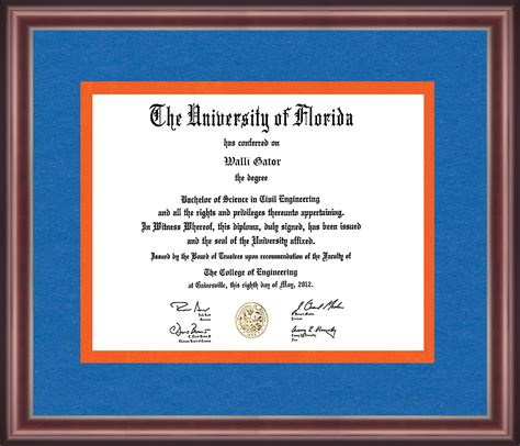 Of Florida Mba Class Size by Of Florida Diploma Frame Talking Walls