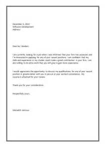 Simple Cover Letter Resume by Sle Cover Letter Of Resume Exles Of Simple Cover Letters For Memes