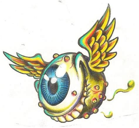 tattoo eye with wings von dutch eyeball with wings google search vector