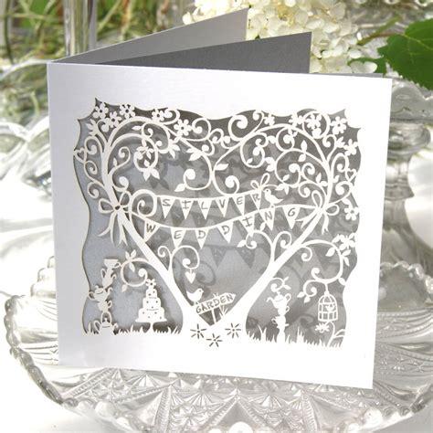 25th Wedding Anniversary Card Box by Silver Wedding Anniversary Laser Cut Card By The