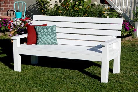 make a garden bench sturdy 2x4 bench buildsomething com