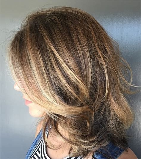bronde hair home coloring brunette highlights and long layers neil george