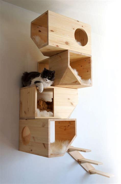 cat houses wooden modular cat house