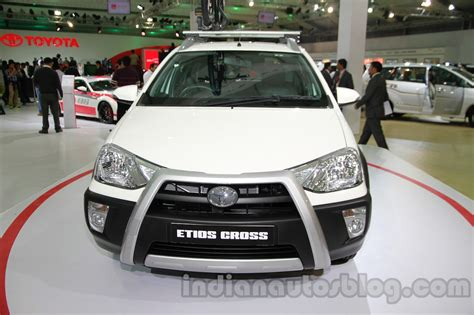Ktm Auto Expo 2014 by Toyota Etios Cross With Accessories Front At Auto Expo 2014