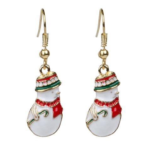 fashion jewelry christmas earrings xmas women drop dangle