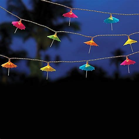 Patio Umbrella String Lights Buy 10 Bulb Umbrella String Lights From Bed Bath Beyond