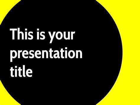 Free Presentation Template Modern Black Yellow Using Powerpoint Templates