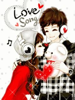 wallpaper animasi couple korea gambar animasi bergerak romantis korea couple