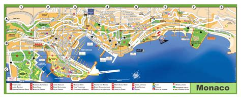 monaco europe map large detailed tourist map of monaco with names