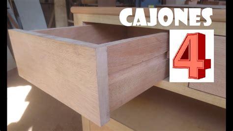 cuarta parte  como hacer cajones de madera porta tv facil luis lovon youtube