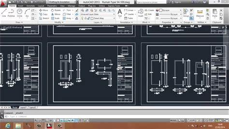 tutorial autocad gambar kerja arsitektur youtube