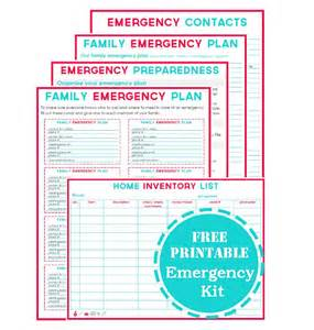 family emergency plan template printable emergency plan template