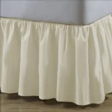 white ruffle bed skirt elegant cotton cream ivory off white ruffle bedskirts