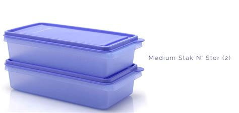 Tupperware Stak N Stor jual tupperware medium stak n stor 2 purple murah bhinneka
