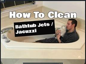 how to clean bathtub jets cleaning
