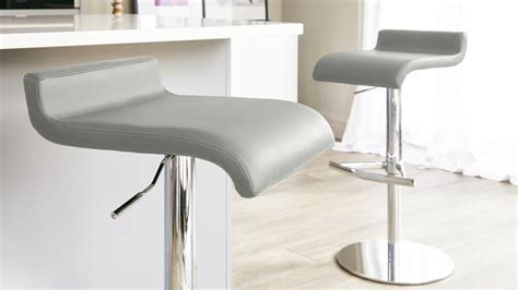 High Quality Leather Bar Stools by Contemporary Curvy Bar Stool Black Or White Chrome