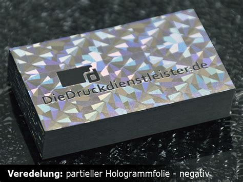 Hologramm Aufkleber Mit Eigenem Logo by Visitenkarten Mit Hei 223 Folienpr 228 Gung Drucken Schnell