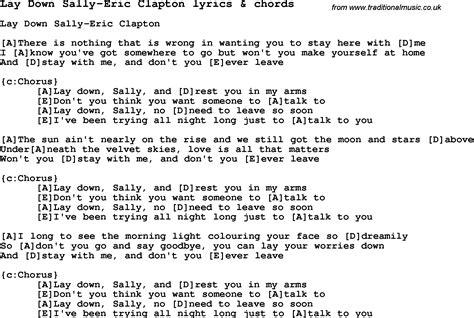 swing low sweet chariot lyrics eric clapton bouwen van een huis lay down sally eric clapton lyrics