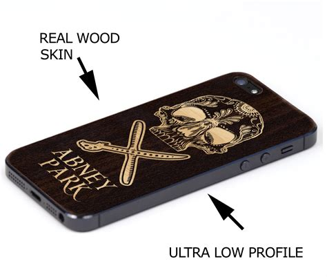 Iphone 4 4s Wooden Shell phones cases abney park market steunk neo tribal