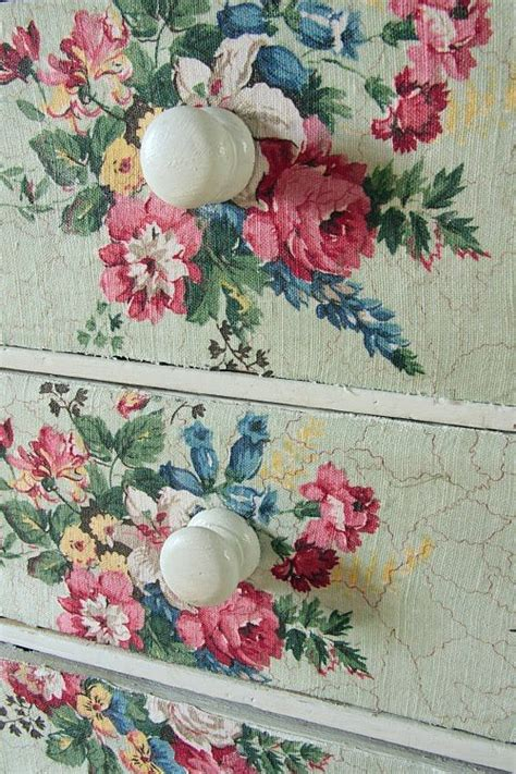 diy decoupage fabric to dresser try using mod podge