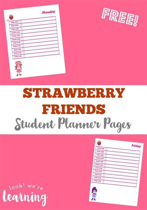 printable planner pages for students 1000 images about free student planners on pinterest