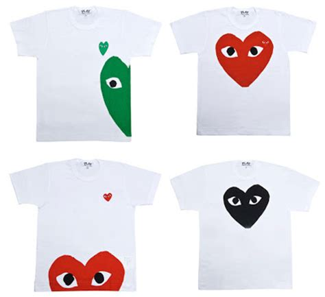 Tshirt Play everything about lienmeiping comme des garcons play t shirt