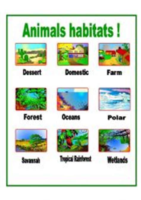 printable animal habitat matching game english teaching worksheets animal habitats homeschool