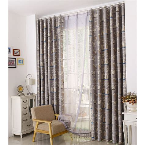nursery curtains blackout thick polyester thermal blackout quality nautical pattern nursery curtains