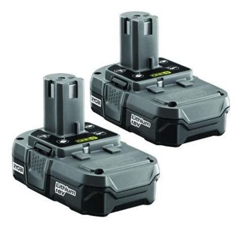 ryobi 18 volt one compact lithium ion battery 2 pack