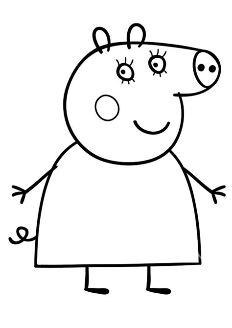 peppa pig mummy coloring pages daddy pig free colouring pages