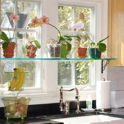 Flower Decor In Window Kitchen Stationary Window Designs 20 Window Decorating Ideas With