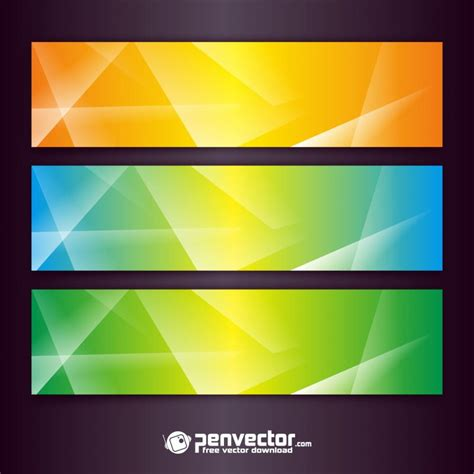 banner design background free abstract set banner design background free vector