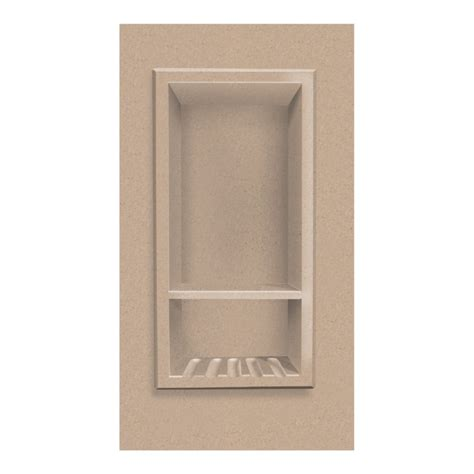decor shower recessed shoo caddy with shelf in sand castle