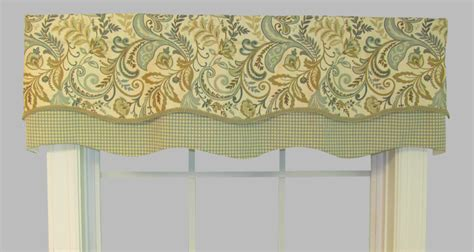 Scalloped Valances For Windows Decor Scalloped Valances Patterned Solid Colored