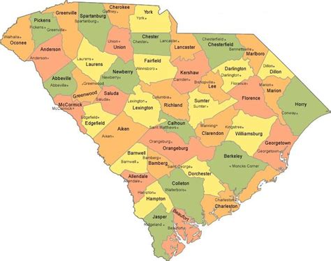 map of counties in carolina best towns in carolina myideasbedroom