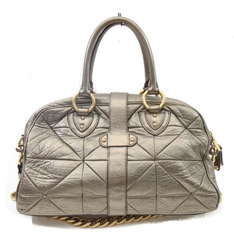 Marc Quilted Chain Bag by Marc Gold Metallic Leather Quilted Chain Bag Bags
