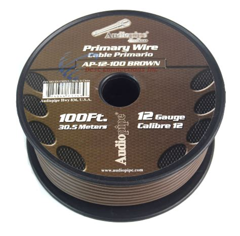 audiopipe 100 12 awg brown primary remote wire
