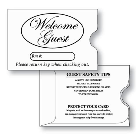 hotel key card holder template hotel key card sleeve 2 3 8 quot x 3 1 2 quot stock print