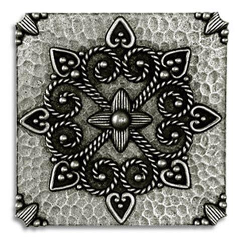 medaglione 3x3 inch pewter tile metal tile accent tiles
