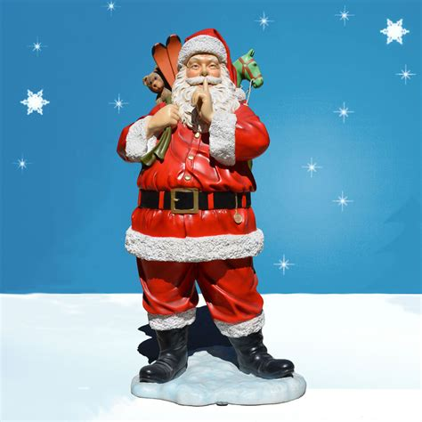 6 foot life sized outdoor santa decoration with toys