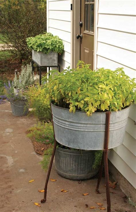 Old Washtubs Used As Planters Good Ideas Pinterest Wash Tub Planters